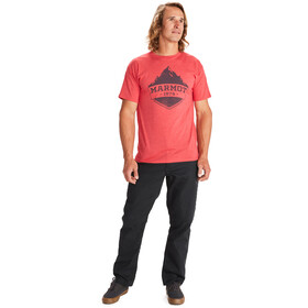 Marmot Mono Ridge Camiseta Manga Corta Hombre, red heather